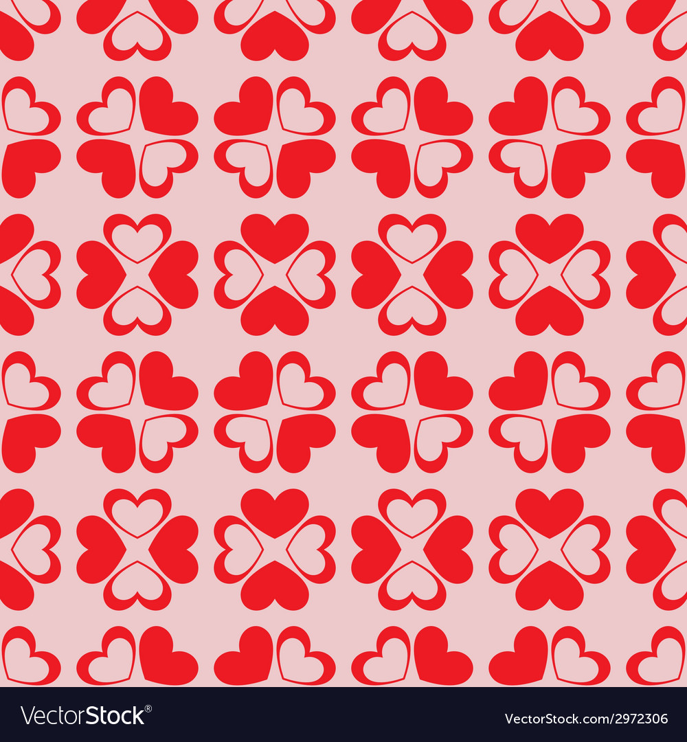 Seamless hearts background vector | Price: 1 Credit (USD $1)