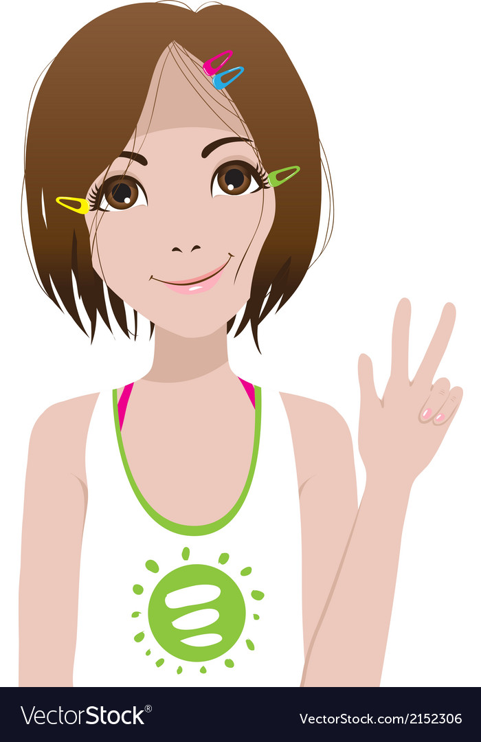 Smiling girl vector | Price: 1 Credit (USD $1)