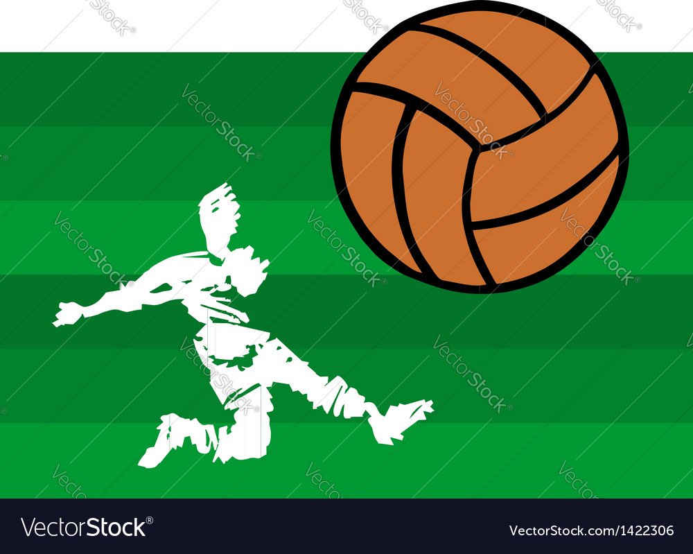 Soccer players big shot vector | Price: 1 Credit (USD $1)