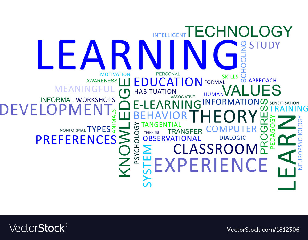 Word cloud learning vector | Price: 1 Credit (USD $1)