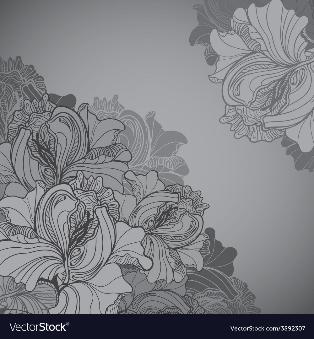 Background with ornament of the grayscale vector | Price: 1 Credit (USD $1)