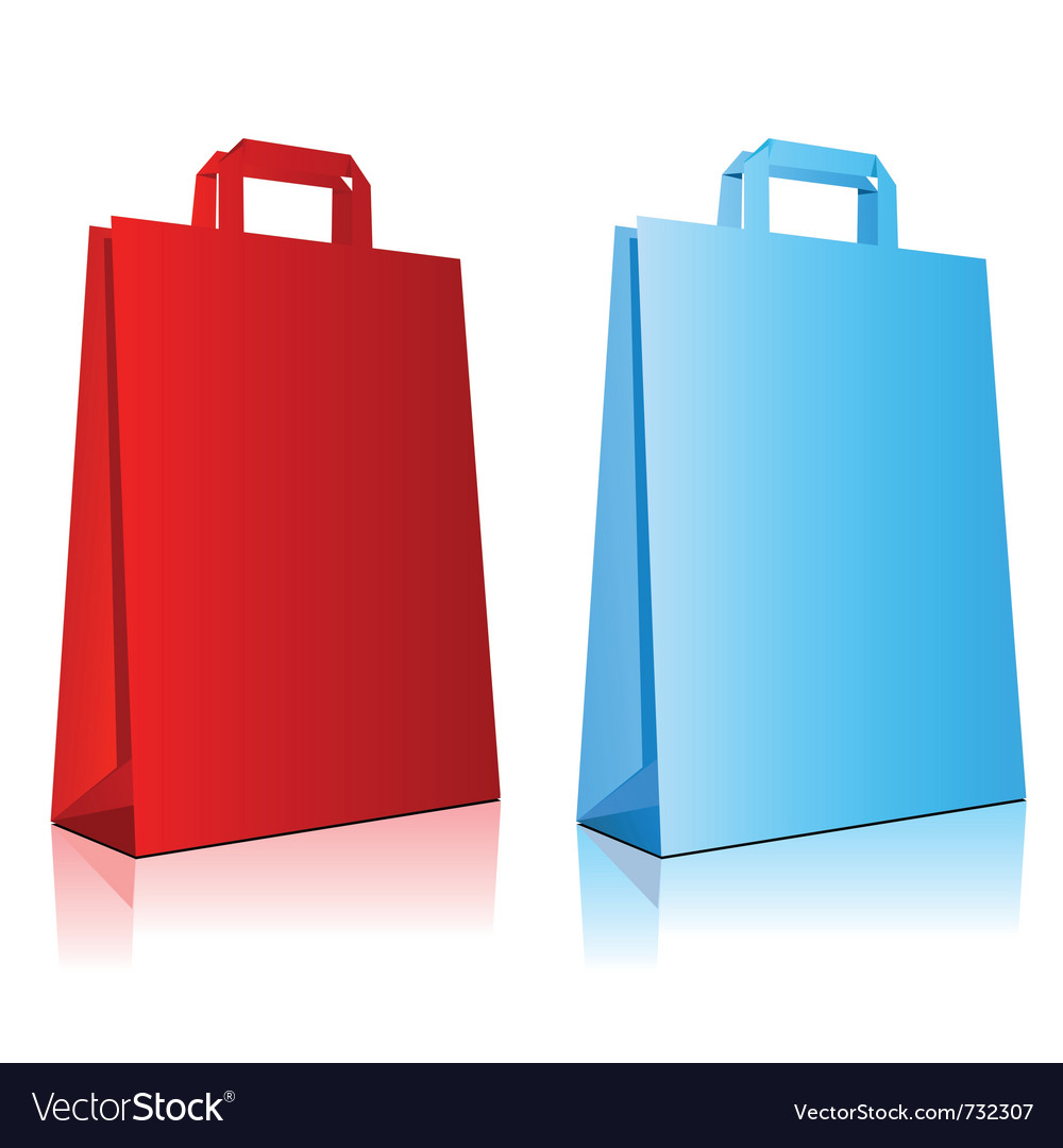 Colored bags vector | Price: 1 Credit (USD $1)