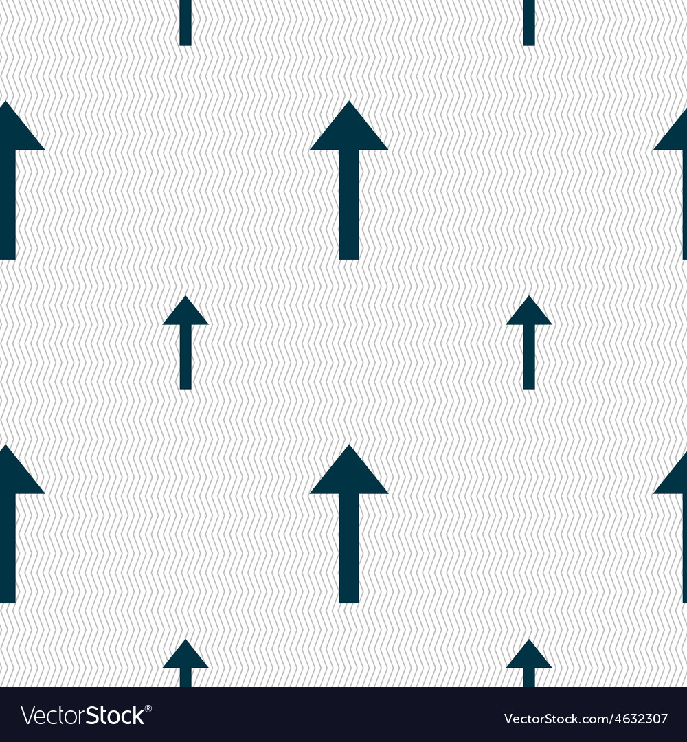 Direction arrow up icon sign seamless pattern with vector | Price: 1 Credit (USD $1)