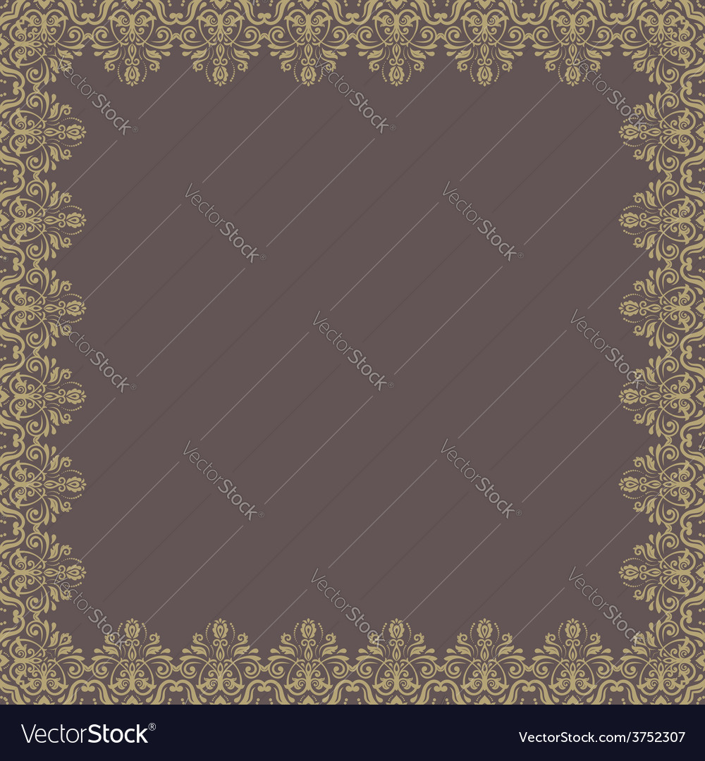 Floral modern frame vector | Price: 1 Credit (USD $1)