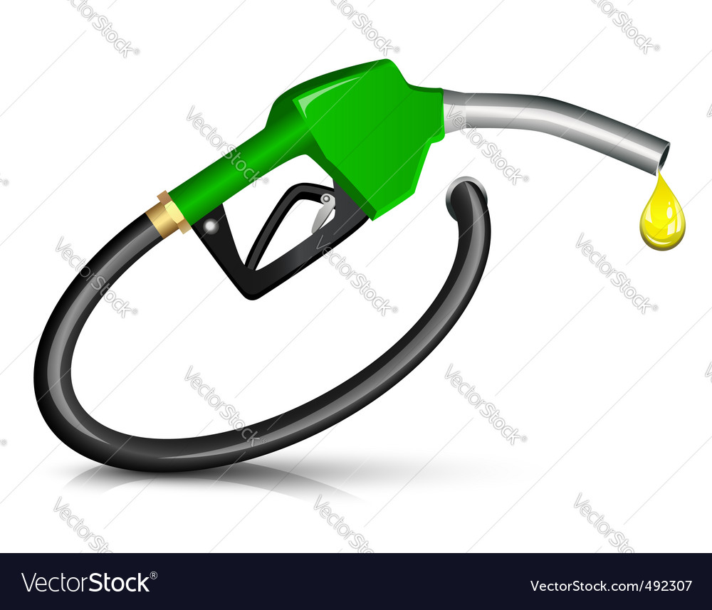 Gasoline fuel nozzle vector | Price: 1 Credit (USD $1)