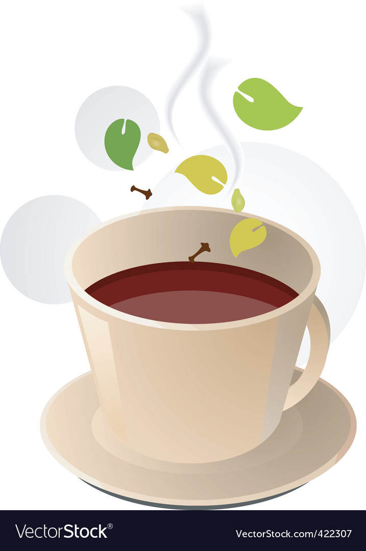 Herbal coffee vector | Price: 1 Credit (USD $1)