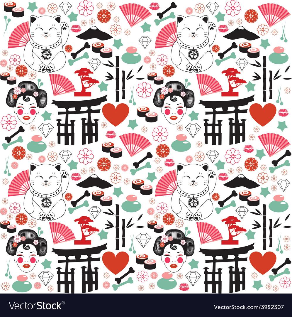 Japan pattern vector | Price: 1 Credit (USD $1)