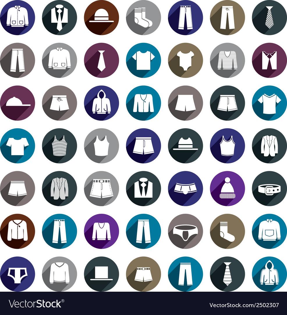 Man clothes icon set vector | Price: 1 Credit (USD $1)