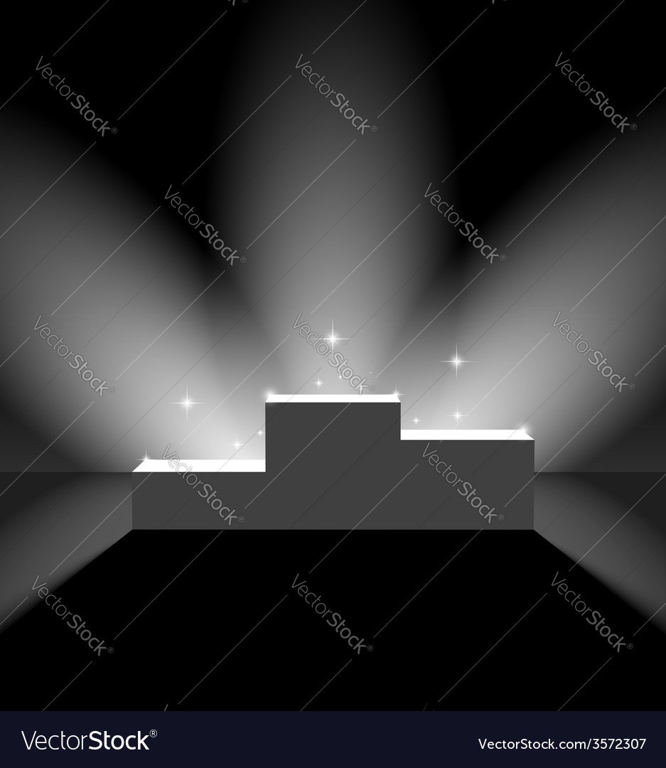 Pedestal with flares on the stage vector | Price: 1 Credit (USD $1)