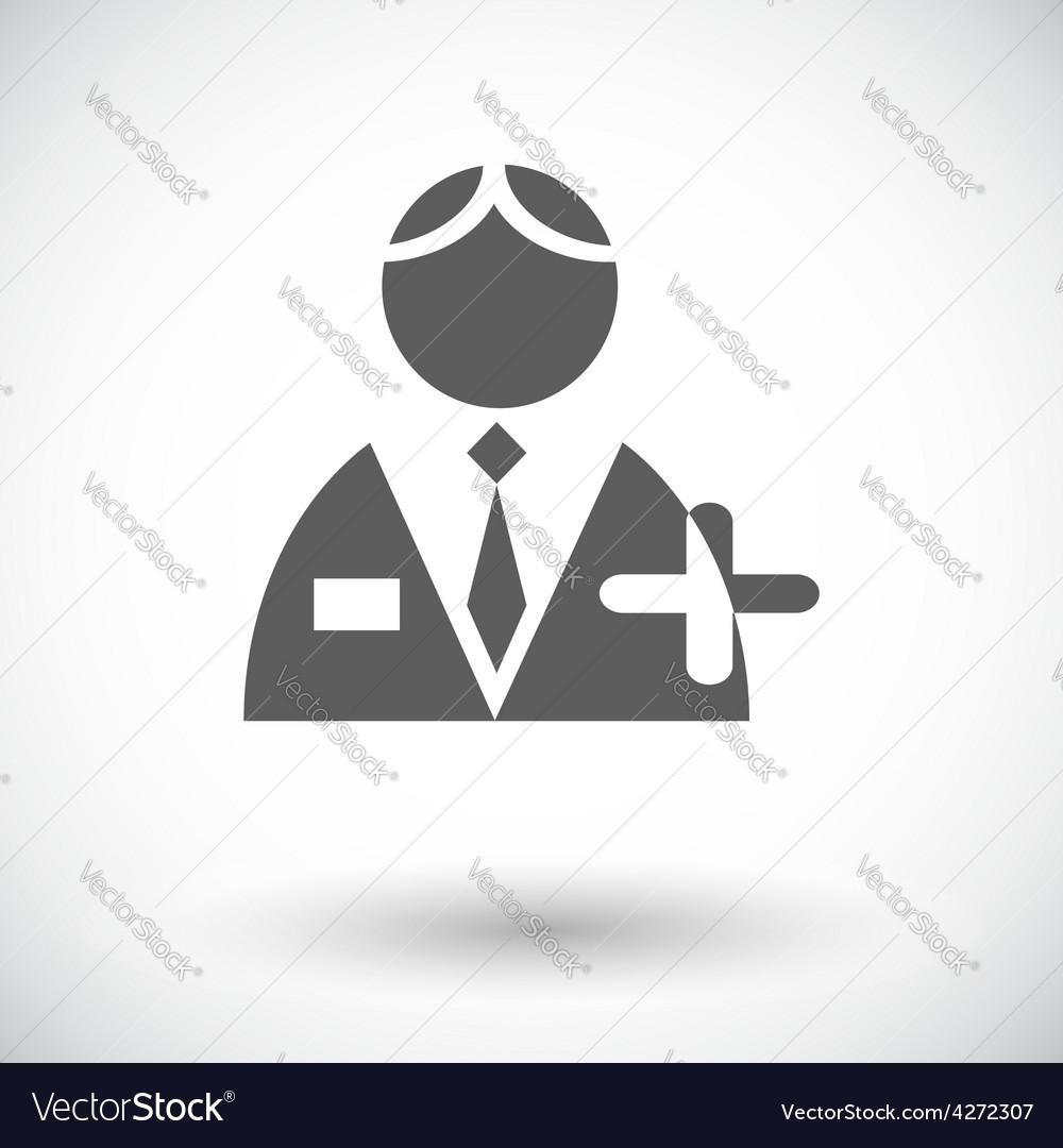 Person single icon vector | Price: 1 Credit (USD $1)