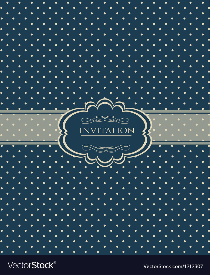 Vintage background for invitation card vector | Price: 1 Credit (USD $1)
