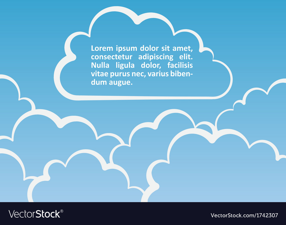 White clouds background vector | Price: 1 Credit (USD $1)