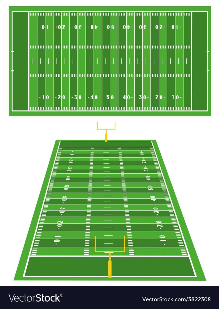 American football fields vector | Price: 1 Credit (USD $1)