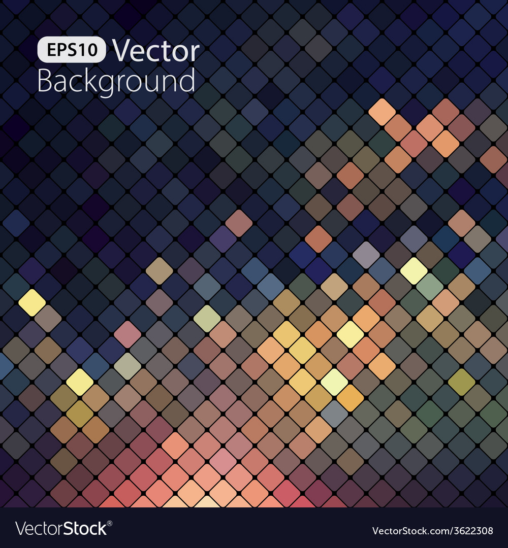 Bright colorful mosaic background vector | Price: 1 Credit (USD $1)