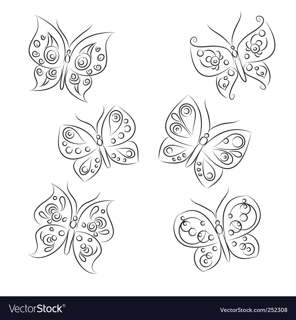 Butterfly sketch vector | Price: 1 Credit (USD $1)