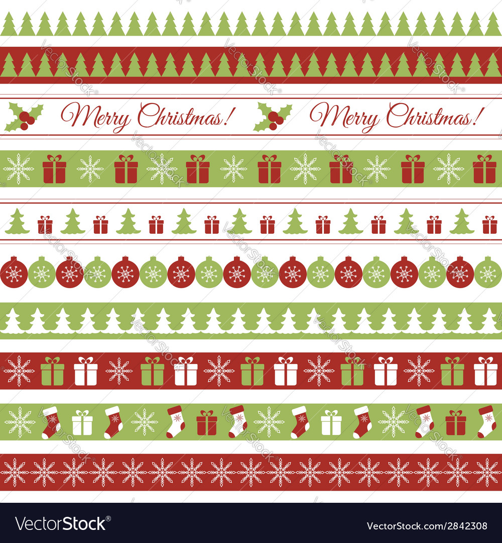 Christmas borders vector | Price: 1 Credit (USD $1)