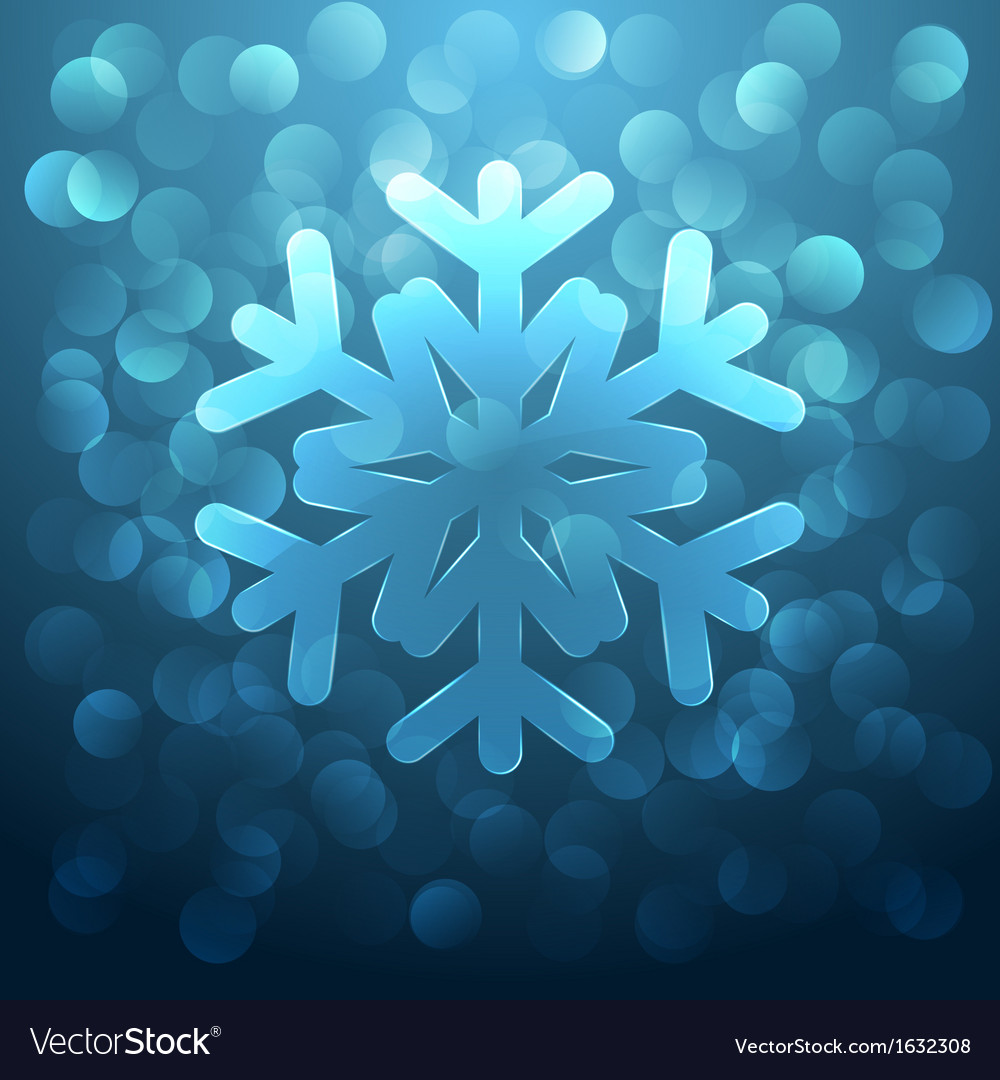 Glass snowflake vector | Price: 1 Credit (USD $1)