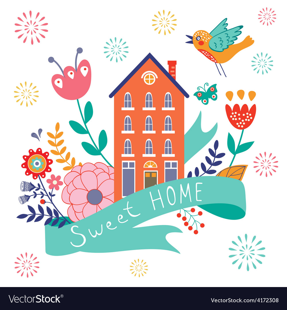 Home sweet home concept vector | Price: 1 Credit (USD $1)