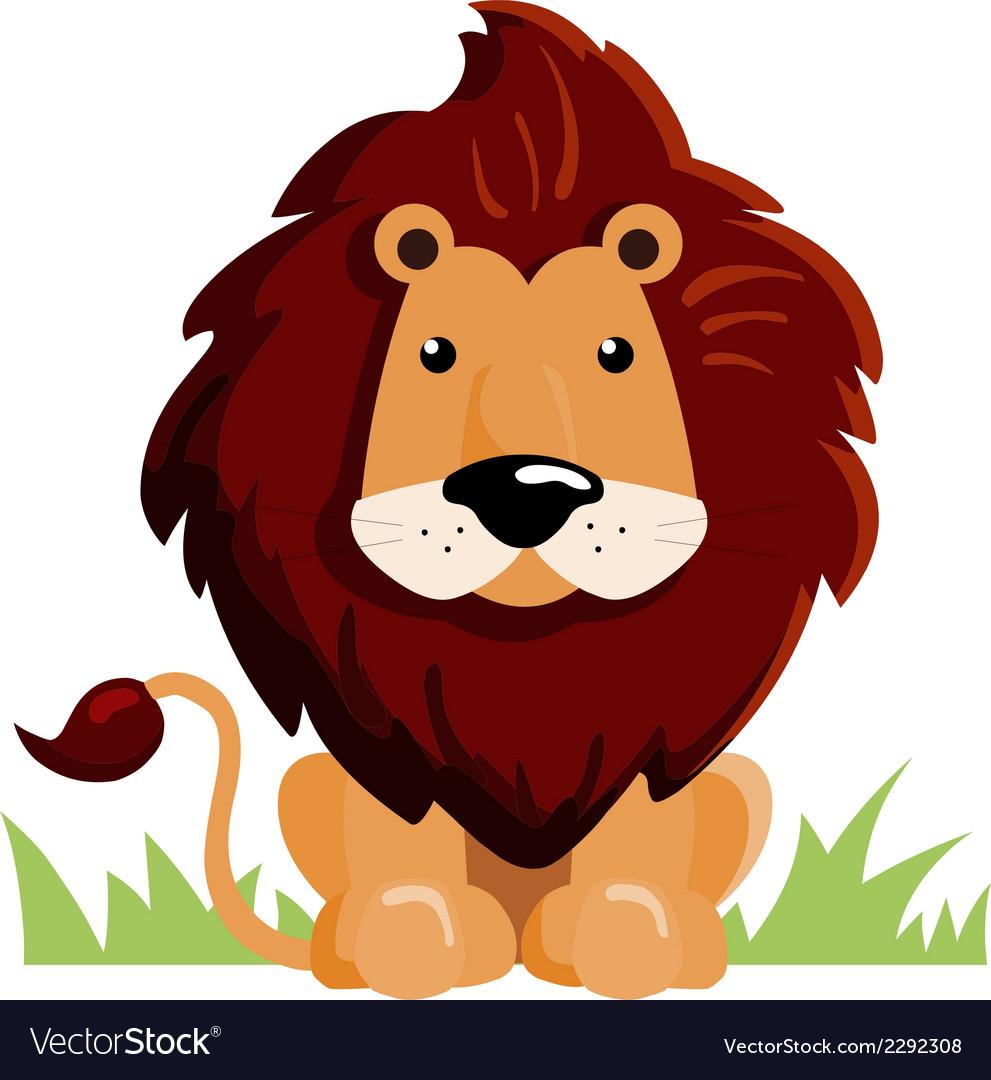 Lion cartoon vector | Price: 1 Credit (USD $1)