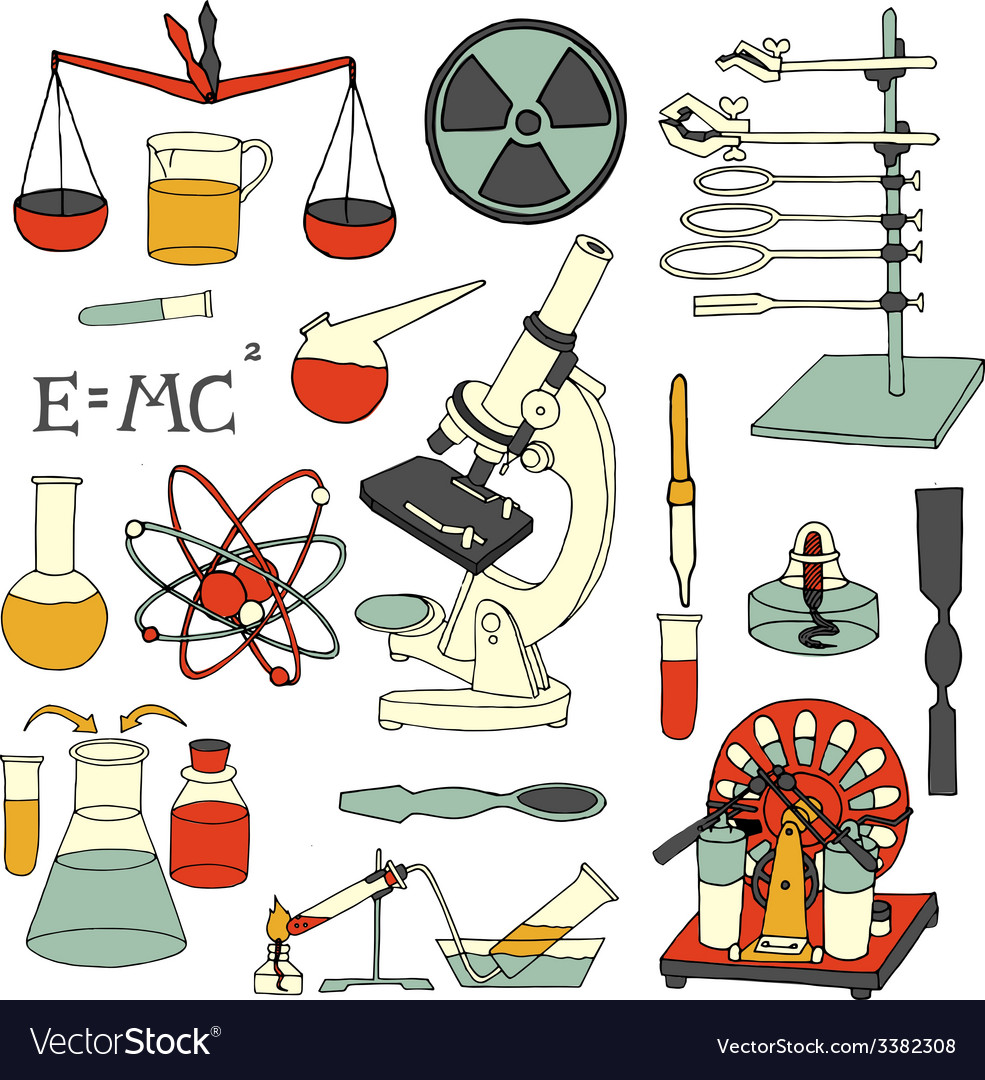 Science sketch icons vector | Price: 1 Credit (USD $1)