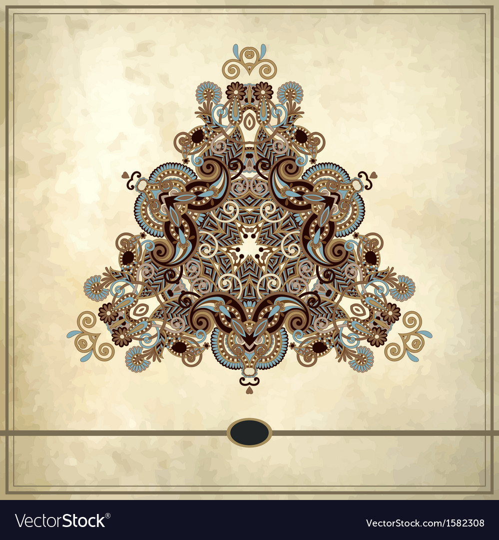 Triangle ornament design on grunge background vector | Price: 1 Credit (USD $1)