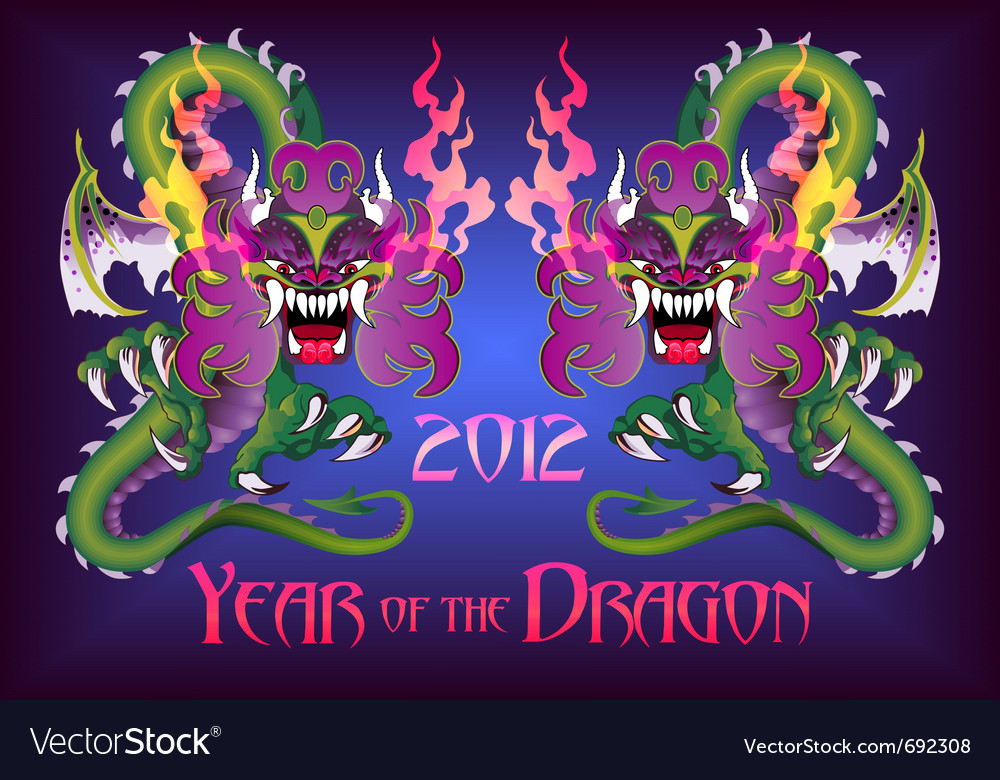 Year of the dragon vector | Price: 3 Credit (USD $3)
