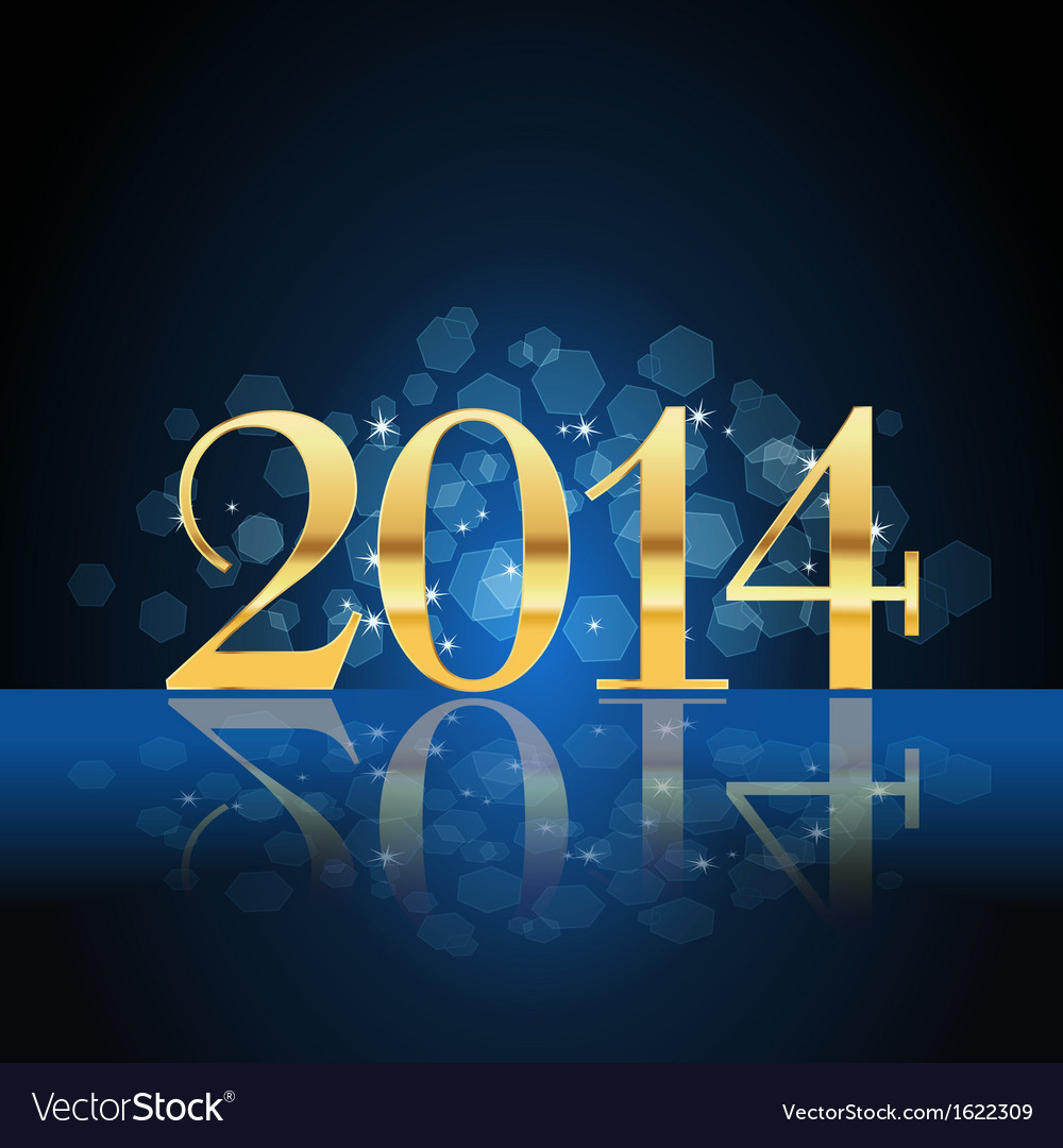 2014 year card gold vector | Price: 1 Credit (USD $1)