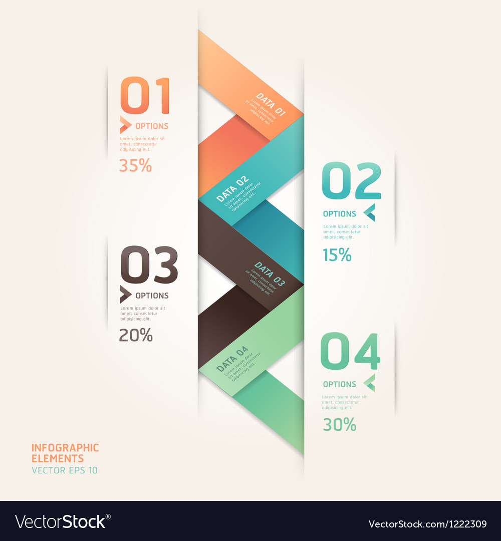 Abstract arrow infographics origami vector | Price: 1 Credit (USD $1)