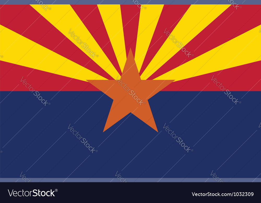 Arizona flag vector | Price: 1 Credit (USD $1)