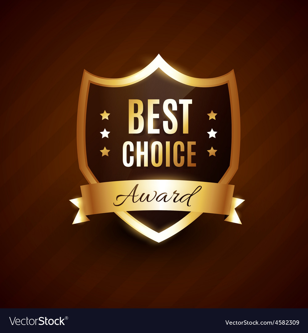 Best choice golden award label badge vector