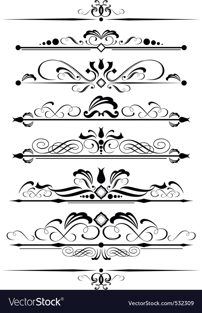 Decorative page design element vector | Price: 1 Credit (USD $1)