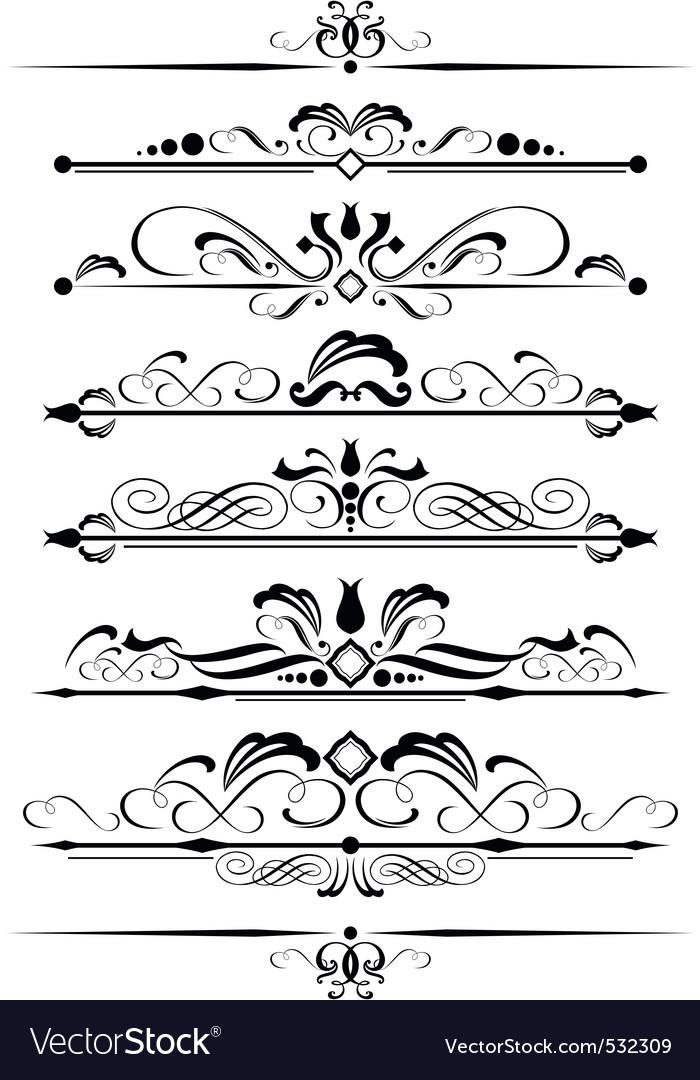 Decorative page design element vector | Price: 1 Credit (USD $1)