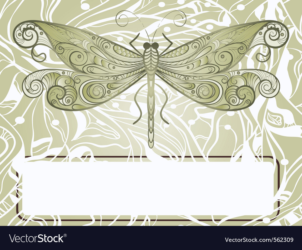 Dragonfly sketch vector | Price: 1 Credit (USD $1)