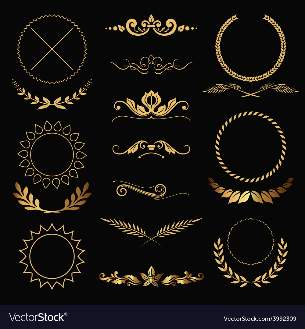 Gold decorations vector | Price: 1 Credit (USD $1)