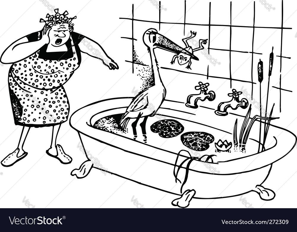 Stock in bath vector   Price: 1 Credit (USD $1)