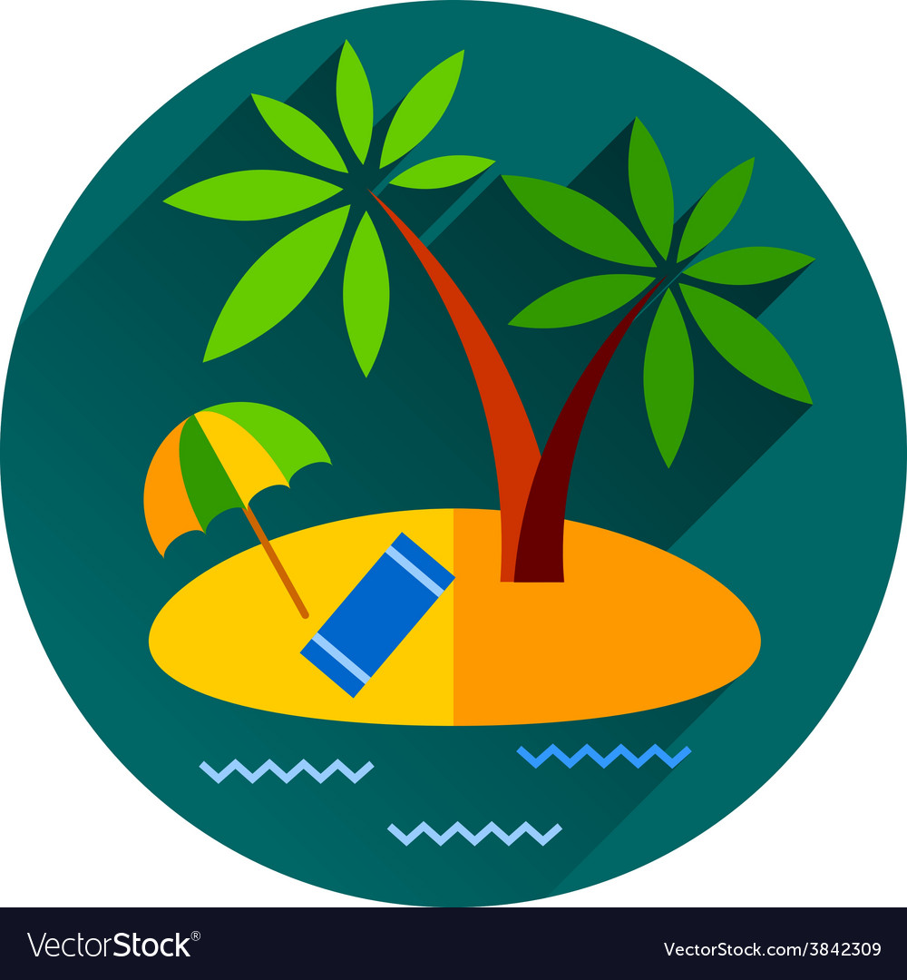 Summer vacation holiday tropical ocean island with vector | Price: 1 Credit (USD $1)