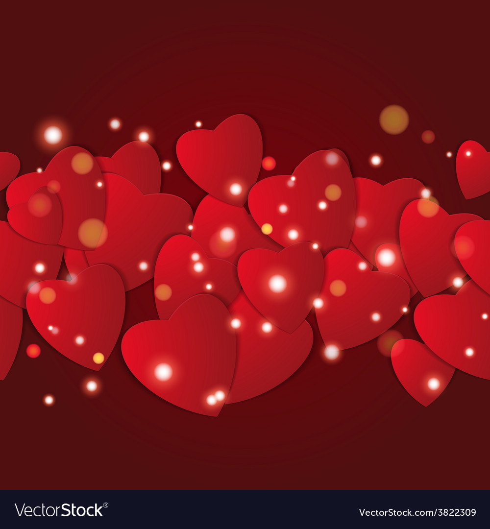 Valentines day abstract paper hearts love vector   Price: 1 Credit (USD $1)