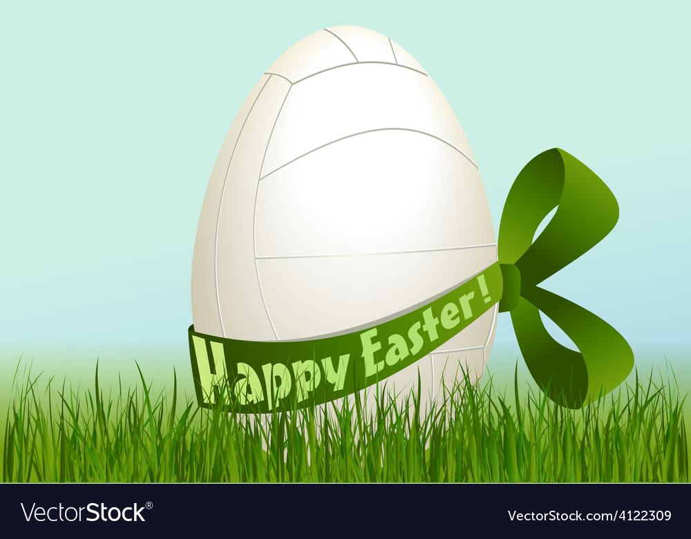 Volleyball easter egg vector | Price: 1 Credit (USD $1)