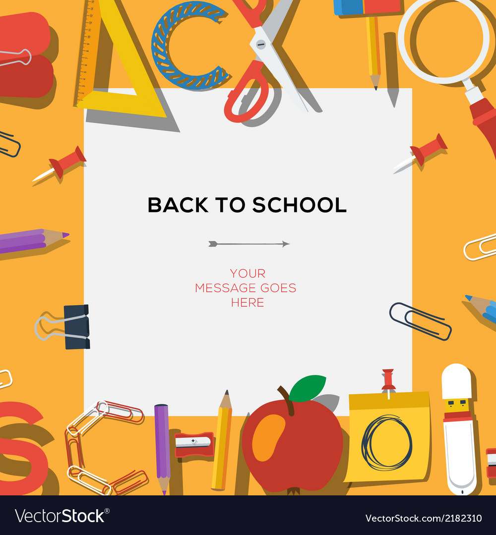 Back to school season sale template with schools vector | Price: 1 Credit (USD $1)