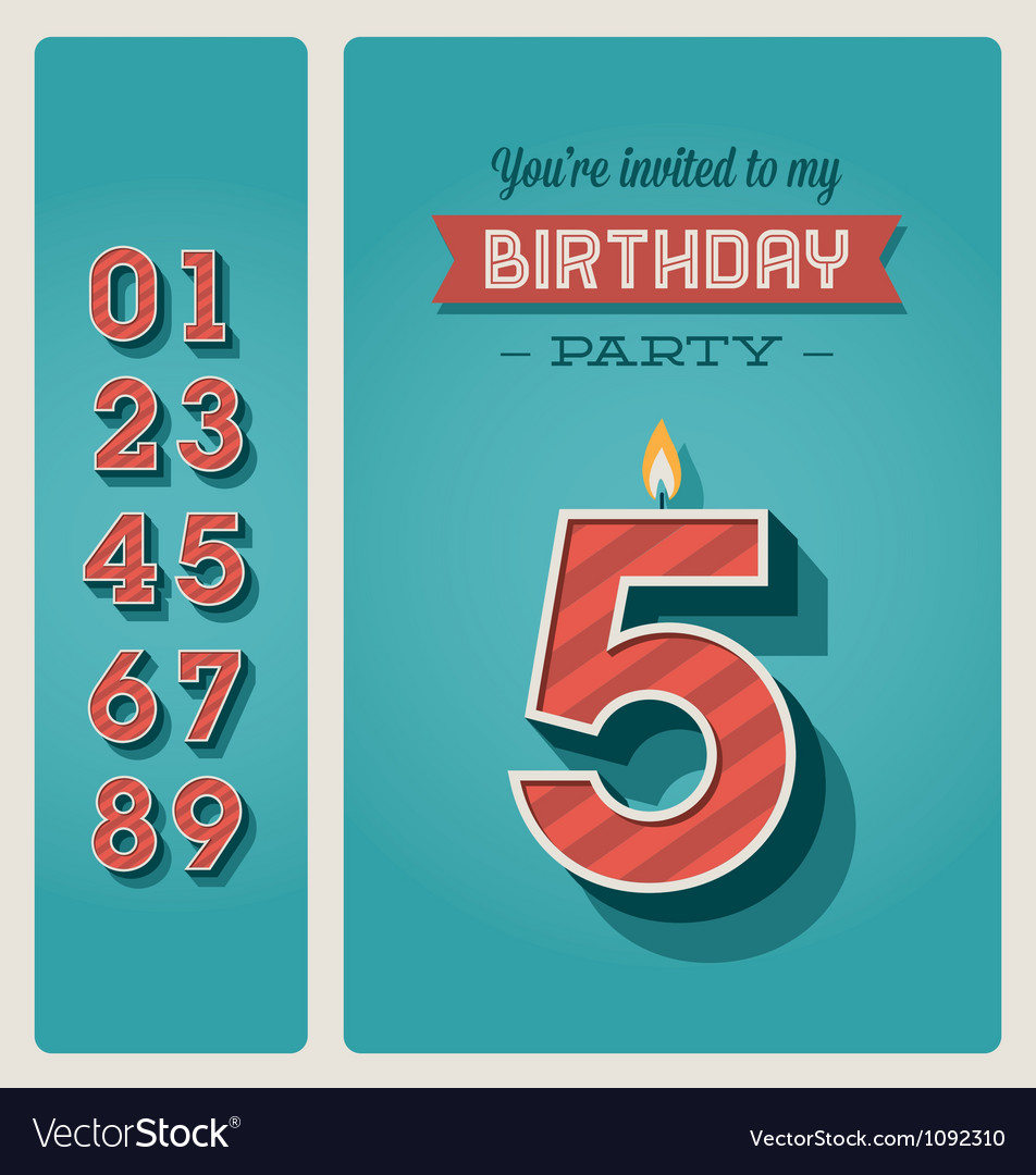 Birthday card invitation editable vector | Price: 3 Credit (USD $3)