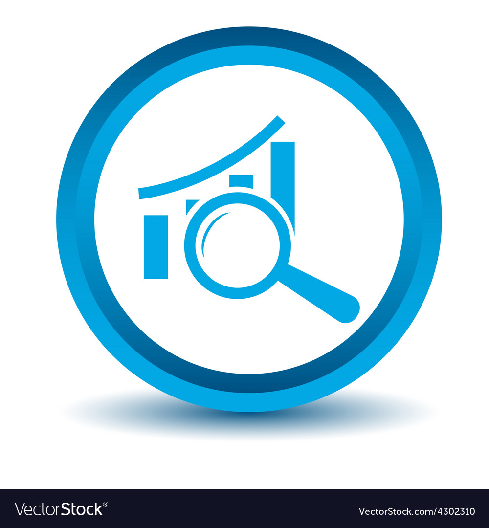 Blue graph scan icon vector | Price: 1 Credit (USD $1)