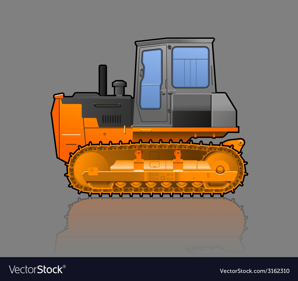 Crawler tractor vector | Price: 1 Credit (USD $1)