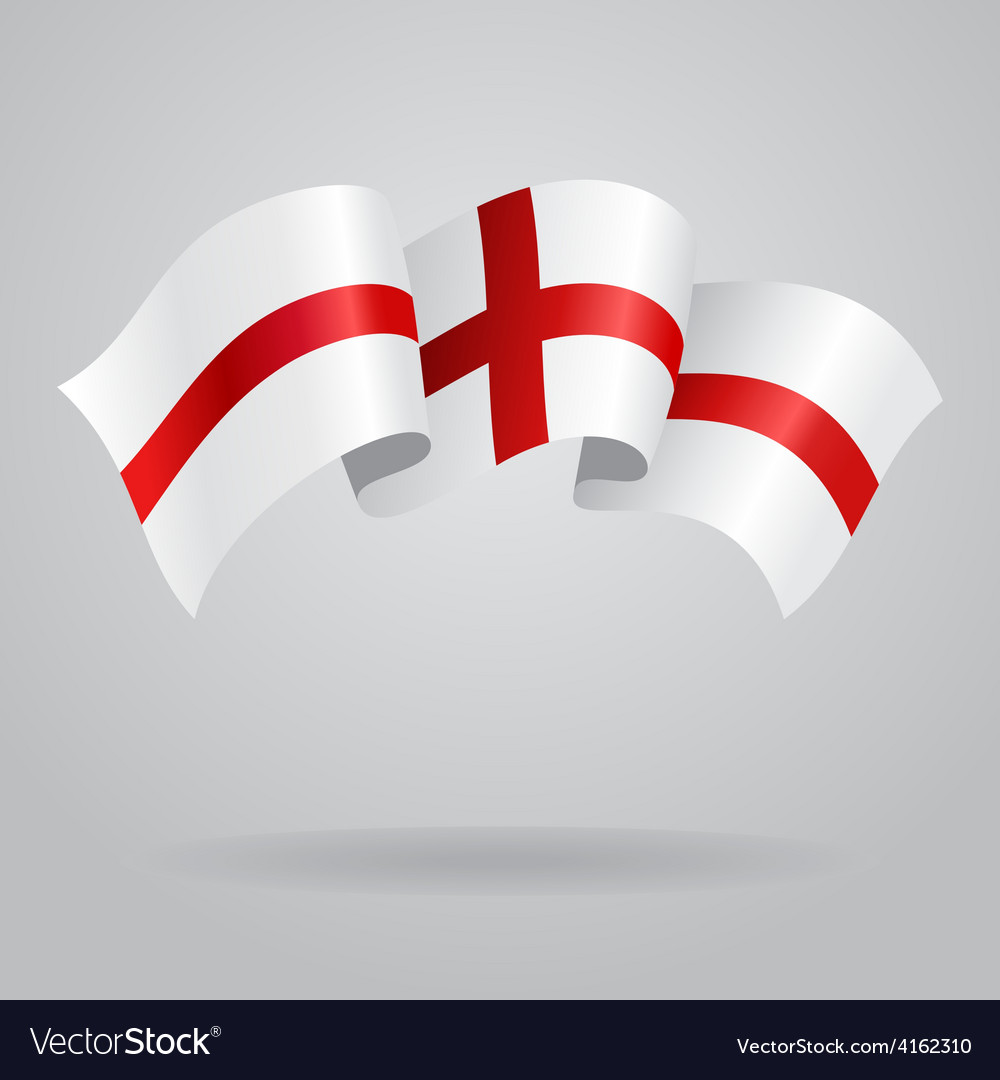English waving flag vector | Price: 3 Credit (USD $3)