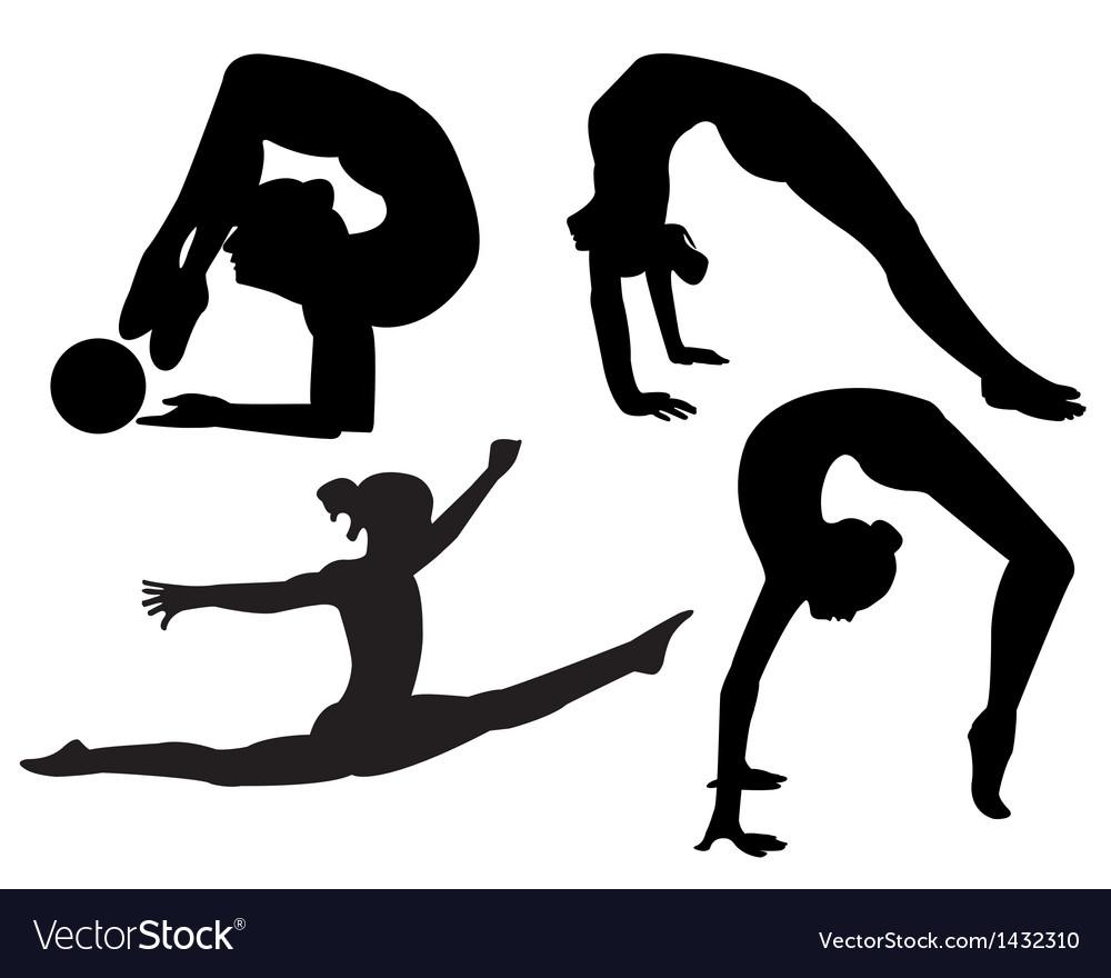 Gymnasts vector | Price: 1 Credit (USD $1)