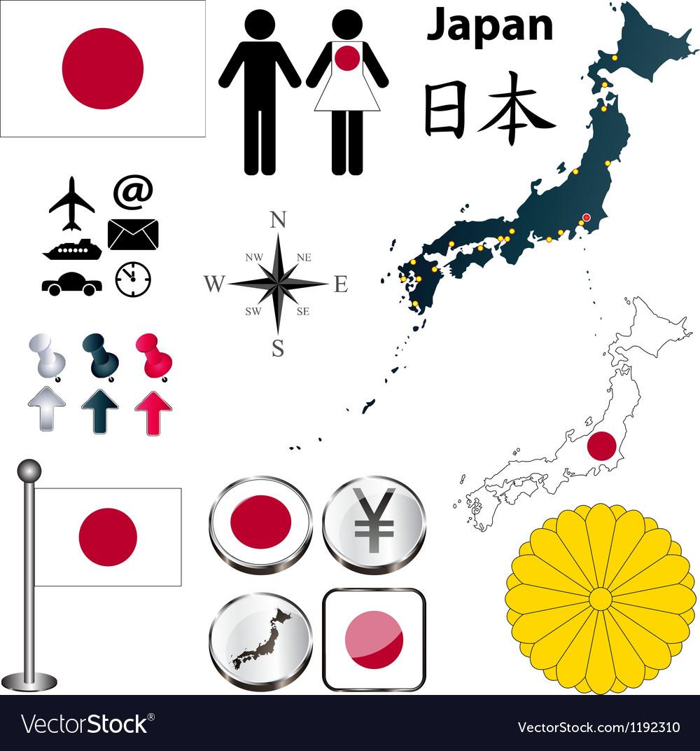 Japan map vector | Price: 1 Credit (USD $1)