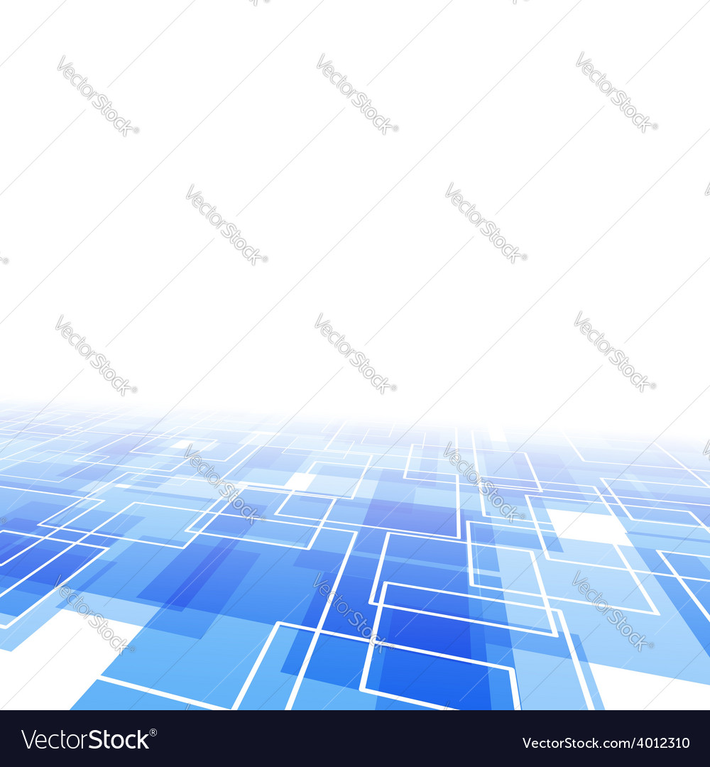 Modernistic blue tile perspective backdrop vector | Price: 1 Credit (USD $1)