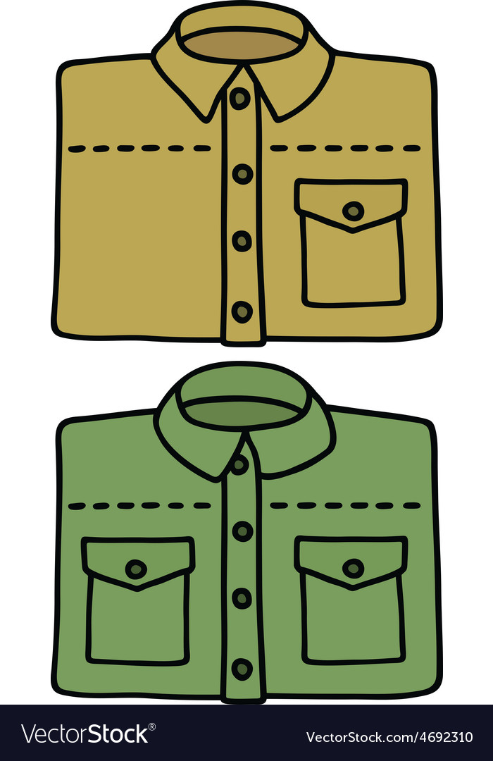 Sand and green shirts vector   Price: 1 Credit (USD $1)