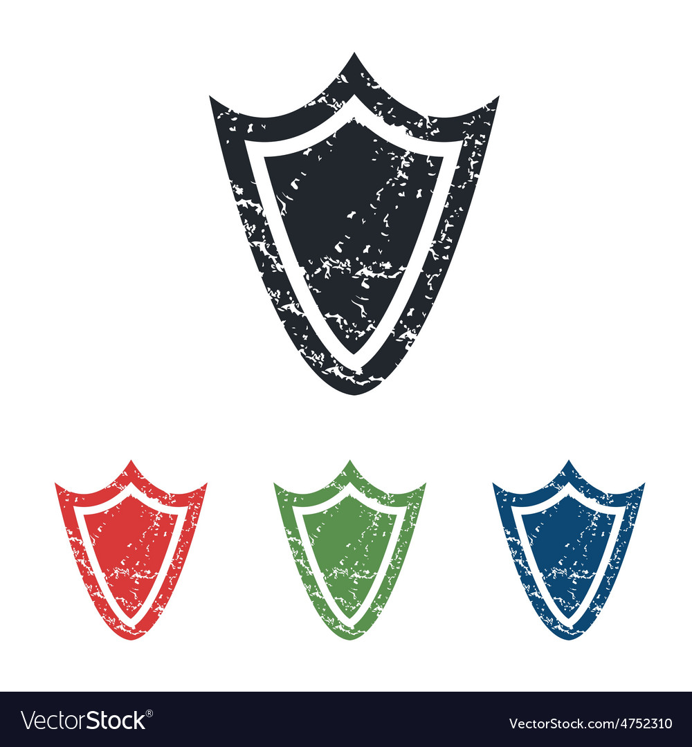 Shield grunge icon set vector | Price: 1 Credit (USD $1)