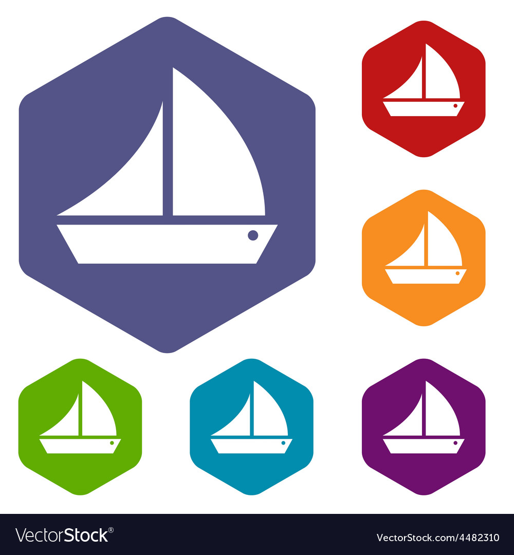 Ship rhombus icons vector | Price: 1 Credit (USD $1)