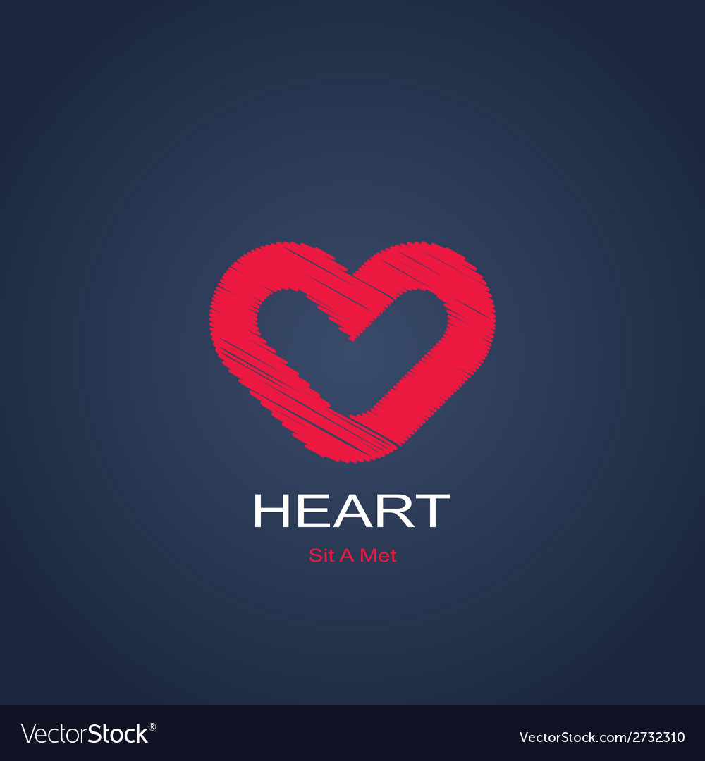 Symbol of heart vector | Price: 1 Credit (USD $1)